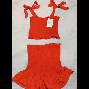 Two piece summer set skirt & top